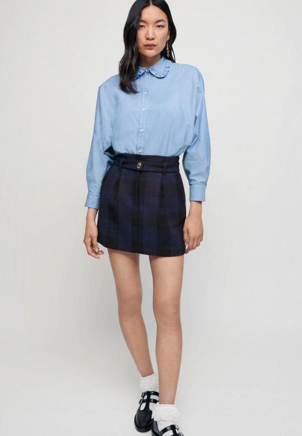 женская блузка maje, голубая