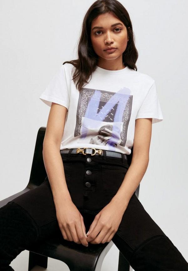женская футболка maje, белая