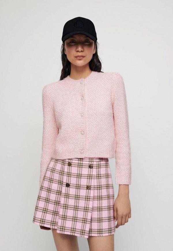 женский кардиган maje, розовый