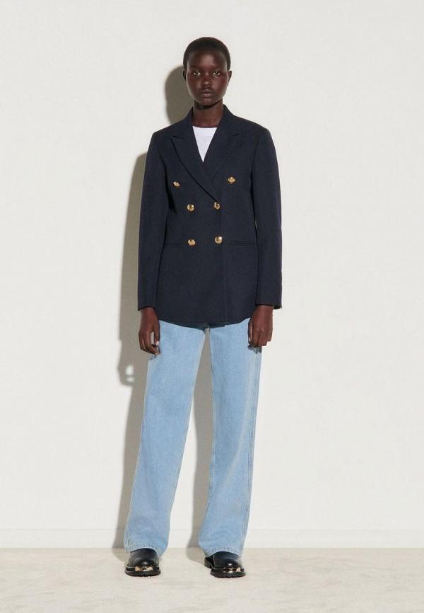женский пиджак sandro, синий