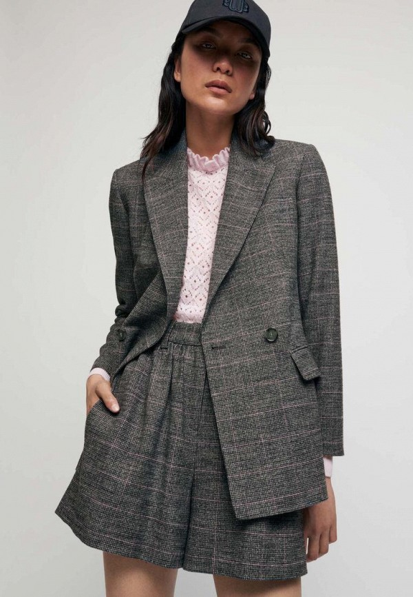 женский пиджак maje, серый