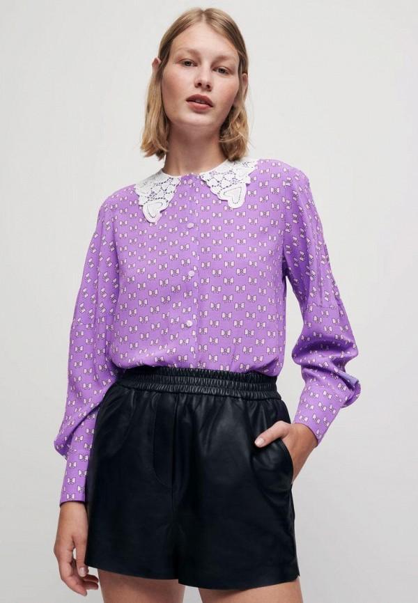 женская блузка maje, фиолетовая