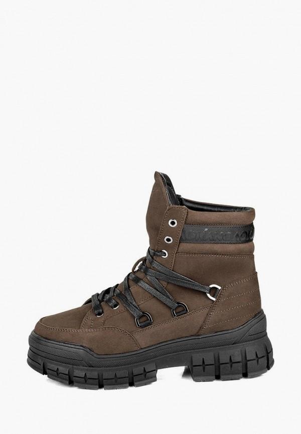 женские ботинки my day, коричневые