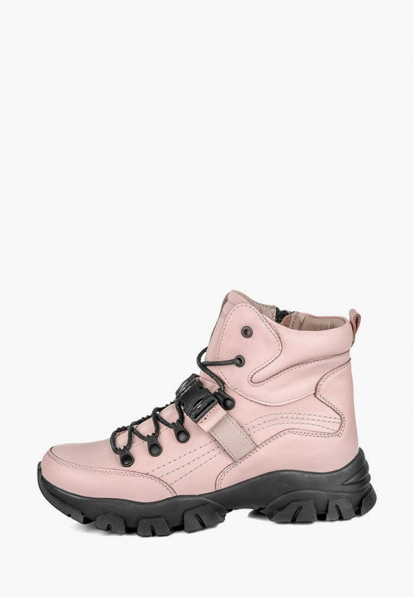 женские ботинки my day, розовые