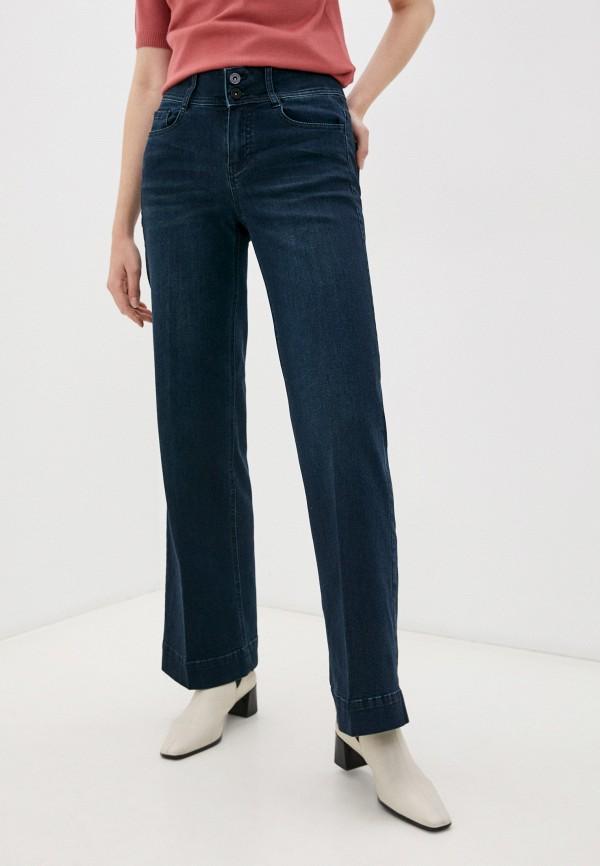 женские джинсы клеш taifun, синие