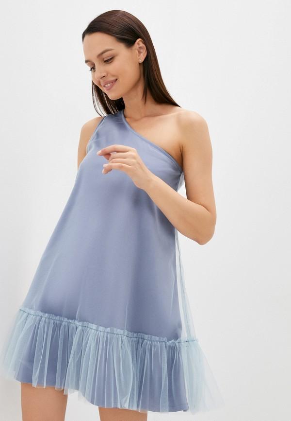 женское вечерние платье m,a,k you are beautiful, голубое