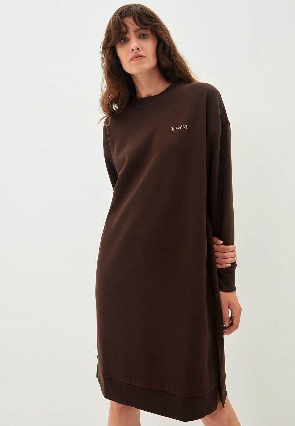 женское платье-толстовки zarina, коричневое