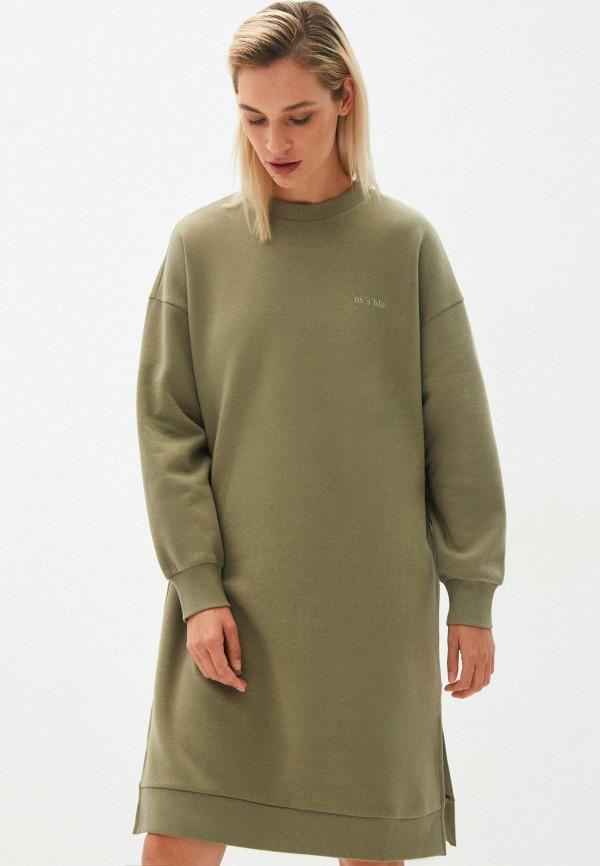женское платье-толстовки zarina, зеленое