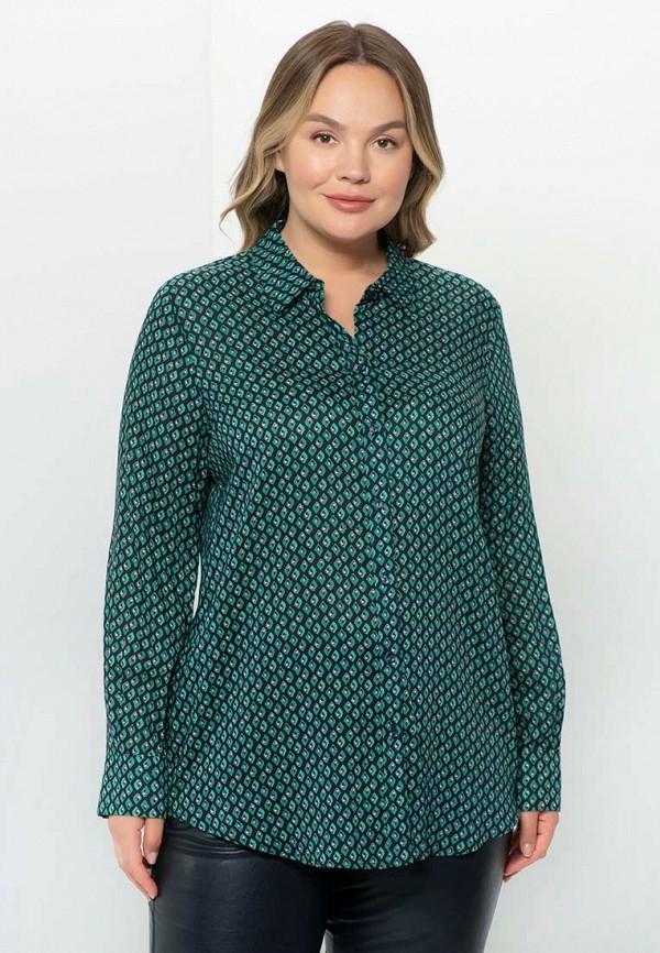 женская блузка с длинным рукавом samoon by gerry weber, зеленая