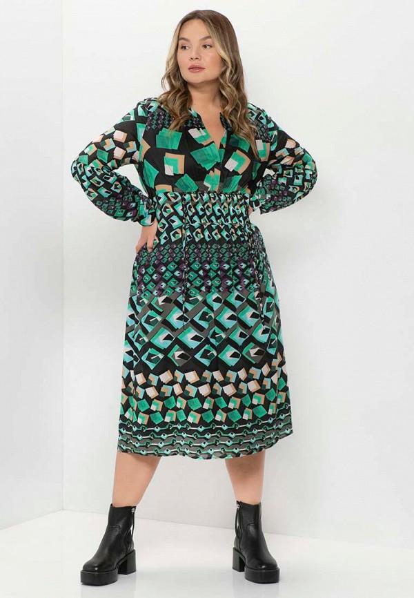 женское повседневные платье samoon by gerry weber, бирюзовое