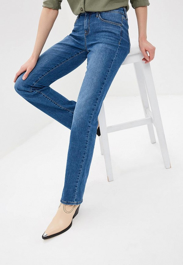 женские прямые джинсы colin's, синие