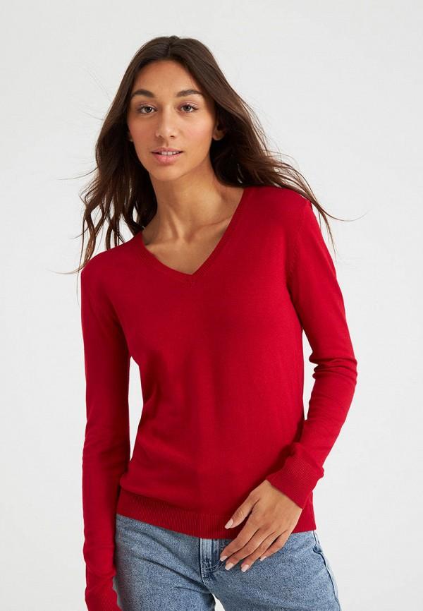 женский пуловер terranova, красный