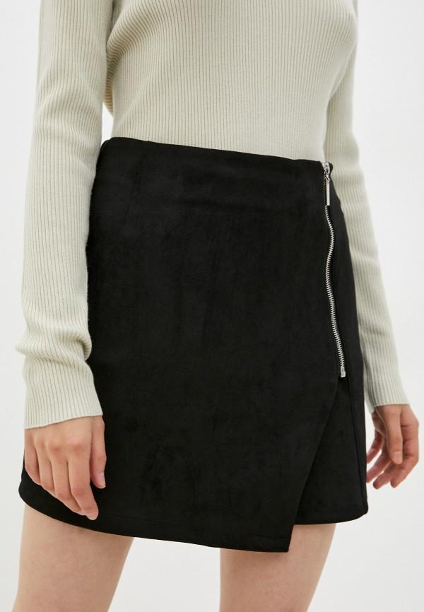 женская юбка-трапеции gloria jeans, черная