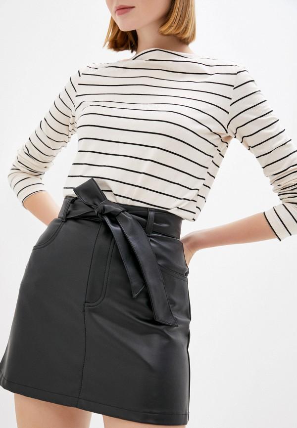 женская кожаные юбка gloria jeans, черная