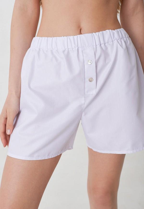женские шорты trofme underwear, белые