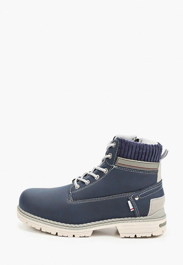 женские высокие ботинки mascotte, синие