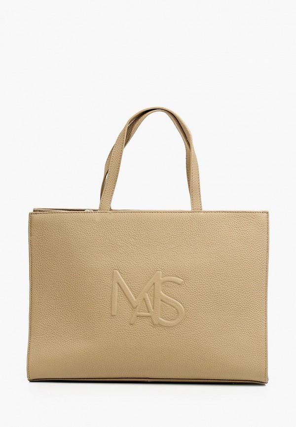 женская сумка с ручками mascotte, бежевая
