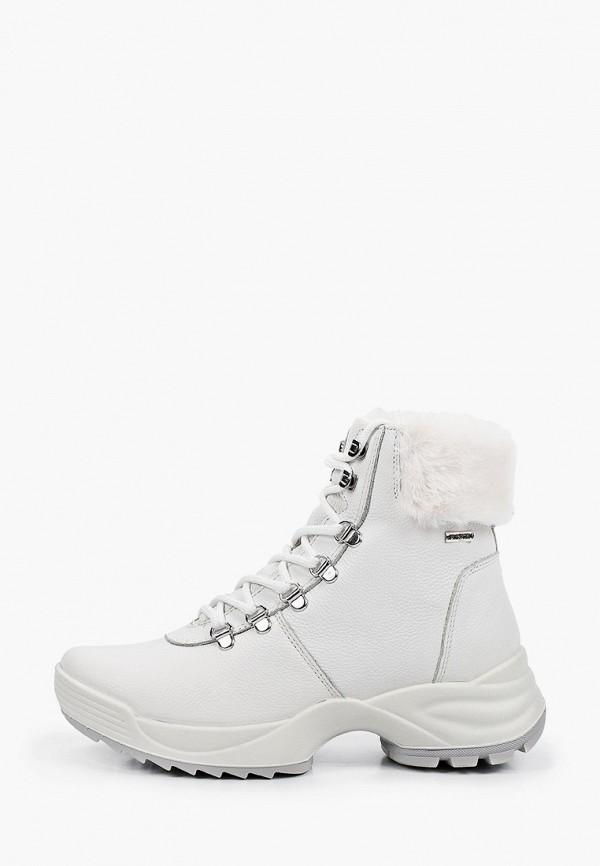 женские высокие ботинки imac, белые