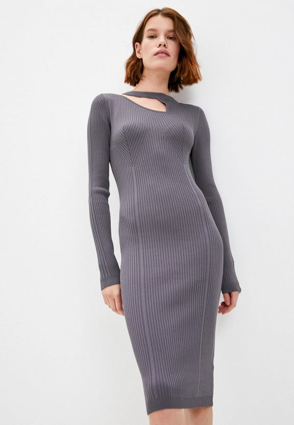 женское платье patrizia pepe, серое
