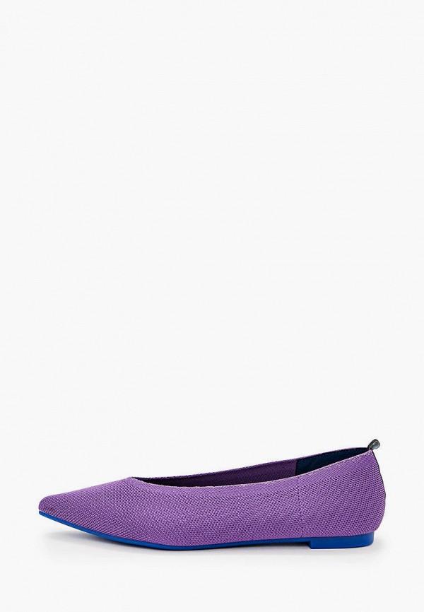 женские балетки dasti, фиолетовые
