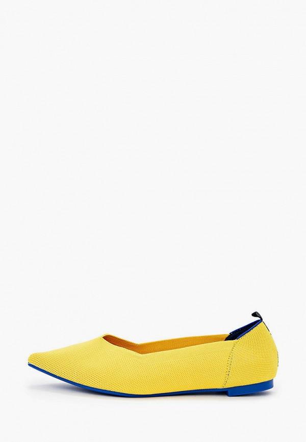 женские балетки dasti, желтые