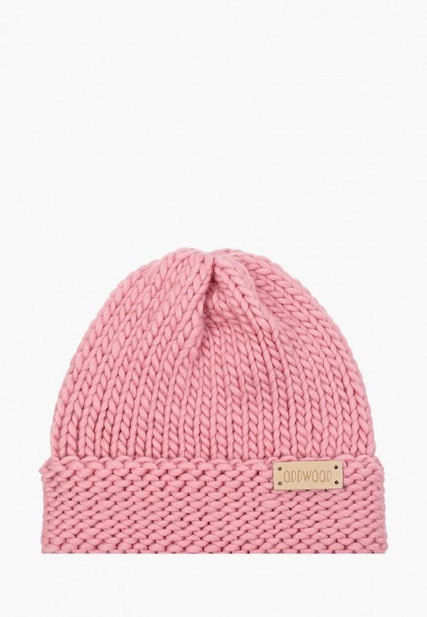 женская шапка oddwood, розовая