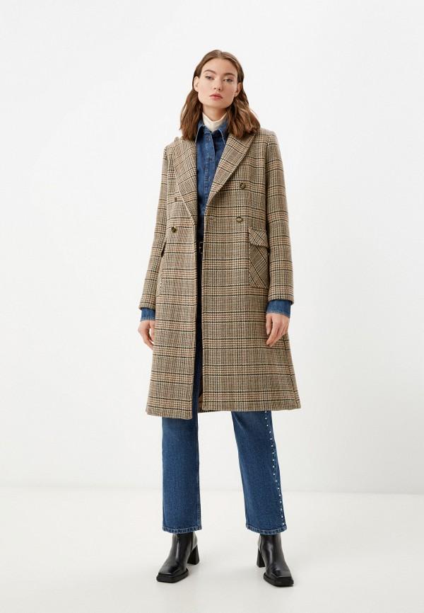 женское пальто tara jarmon, коричневое
