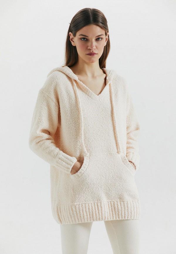 женский пуловер love republic, белый