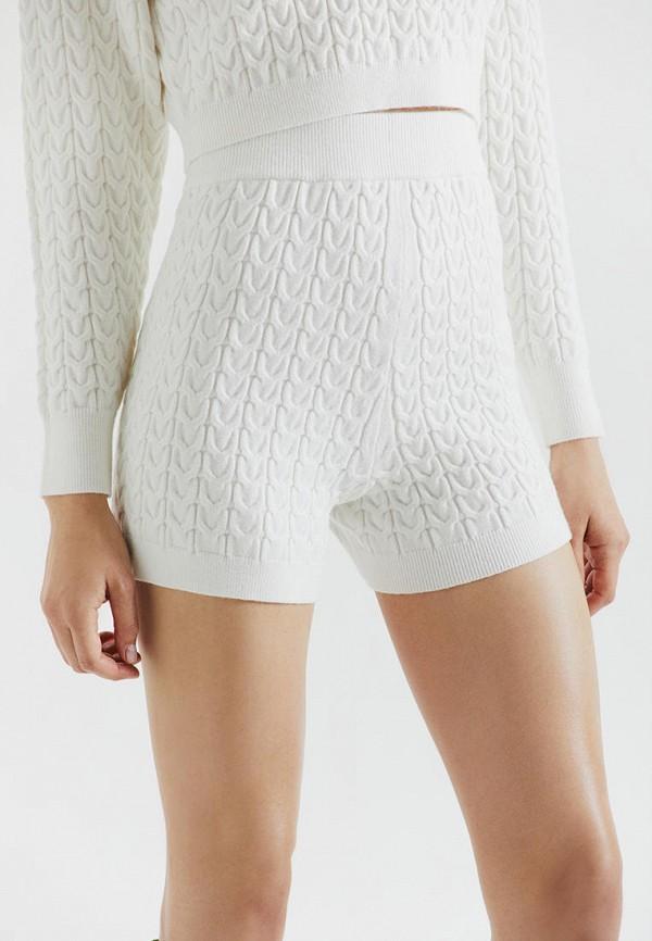 женские повседневные шорты love republic, белые