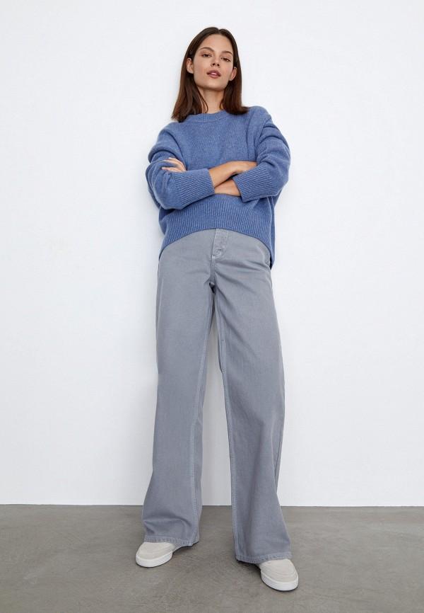 женские джинсы клеш 12storeez, серые