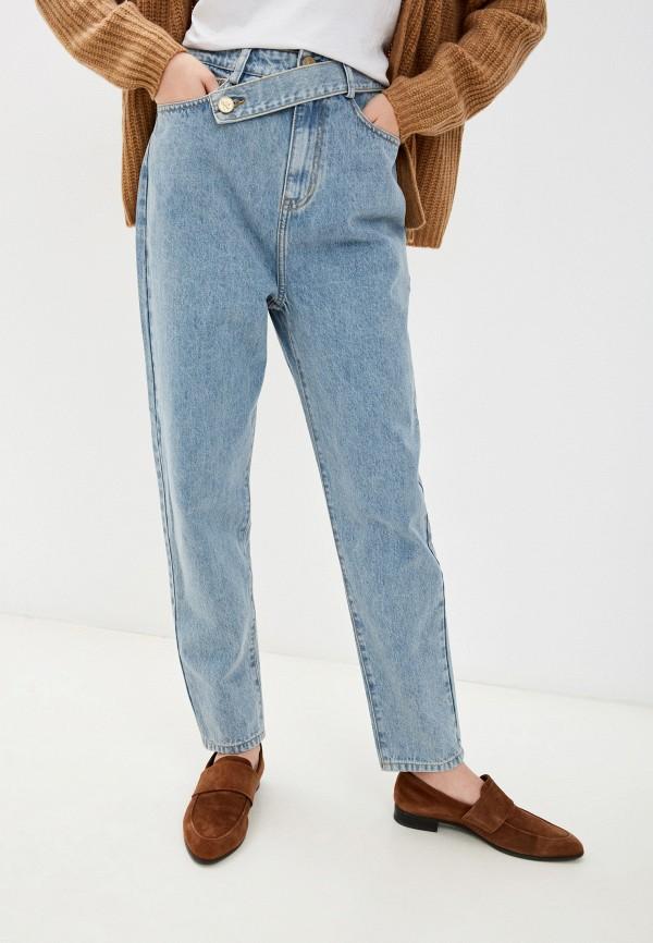 женские прямые джинсы francesco donni, голубые