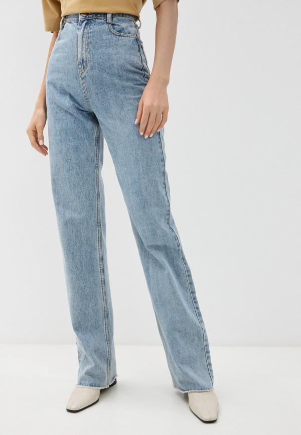 женские джинсы клеш francesco donni, голубые