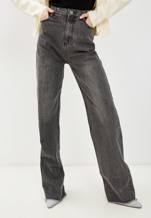 женские джинсы клеш francesco donni, серые