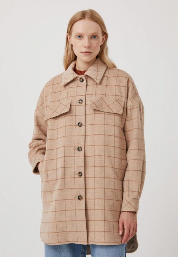 Пальто Finn Flare бежевого цвета