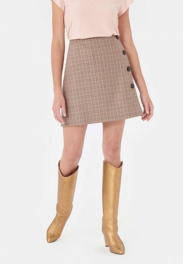 женская юбка-трапеции tara jarmon, бежевая