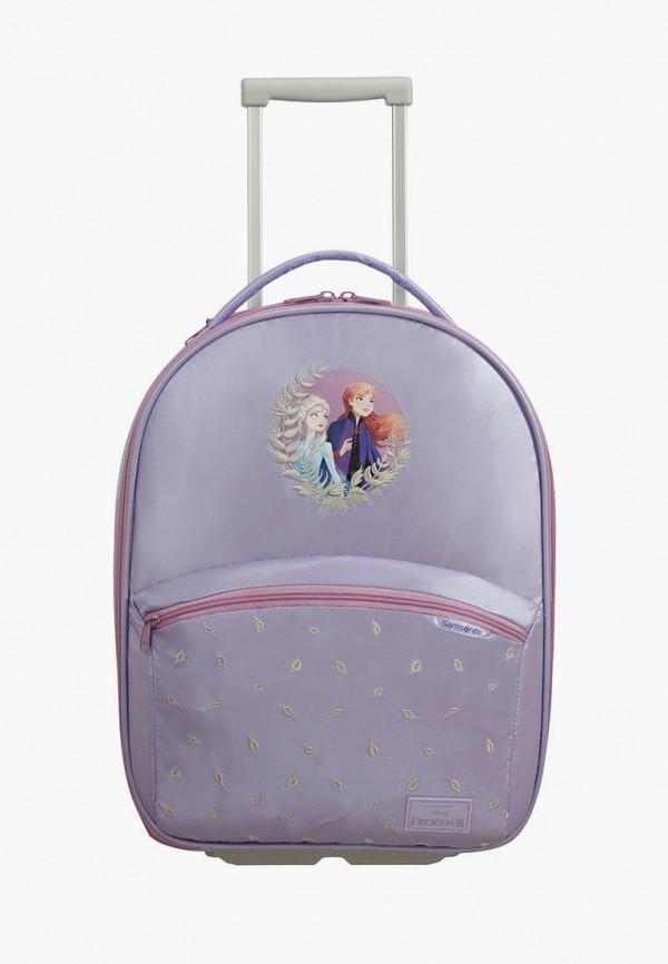 женский чемодан samsonite, фиолетовый