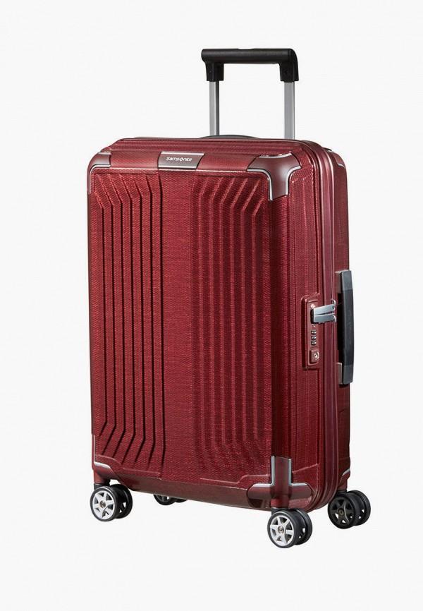 женский чемодан samsonite, бордовый