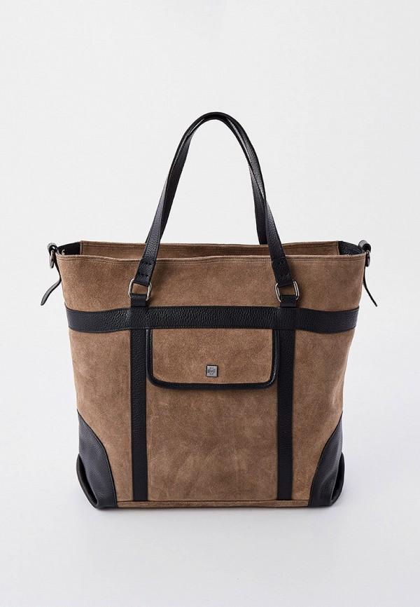женская сумка с ручками hogl, бежевая