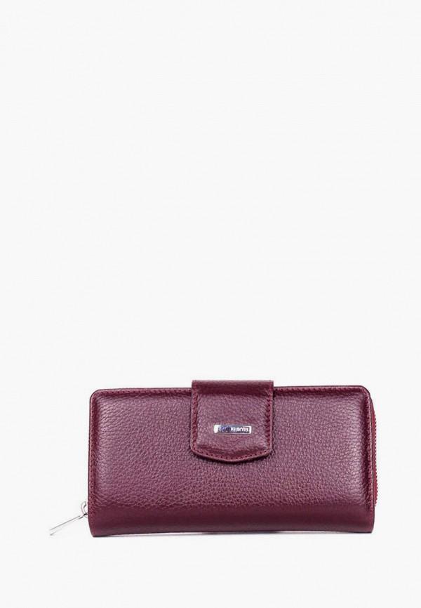 женский кошелёк karya, бордовый