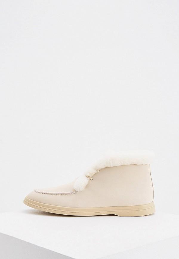 женские ботинки-челси 12storeez, бежевые