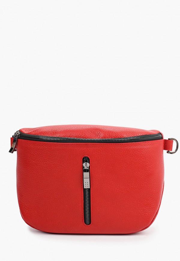женская поясные сумка d.morelli, красная