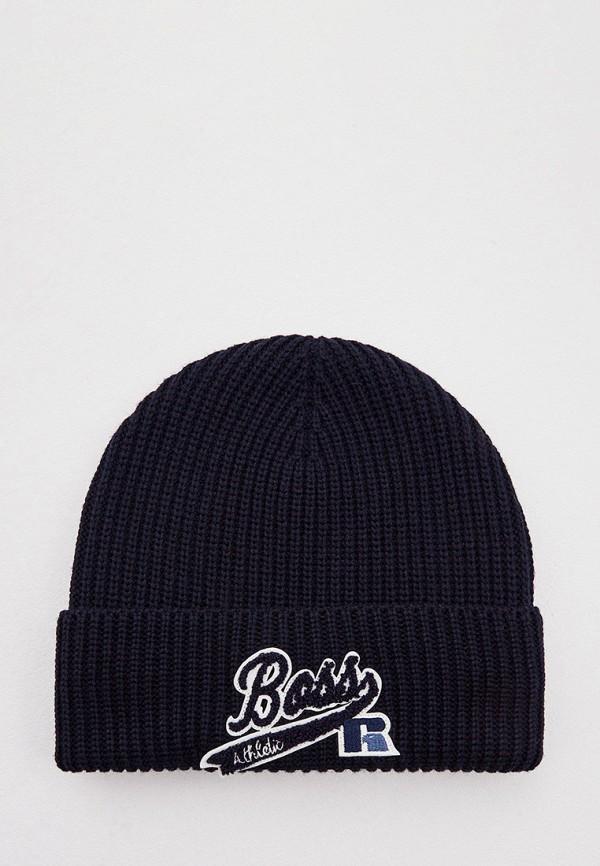 женская шапка boss, синяя