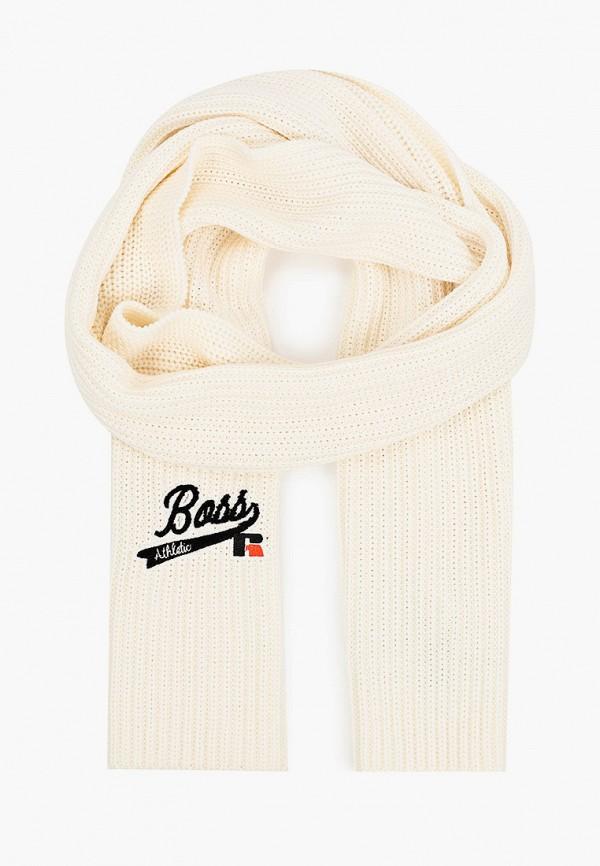 женский шарф boss, белый