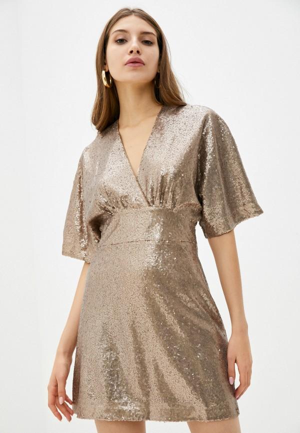 женское вечерние платье lusio, золотое