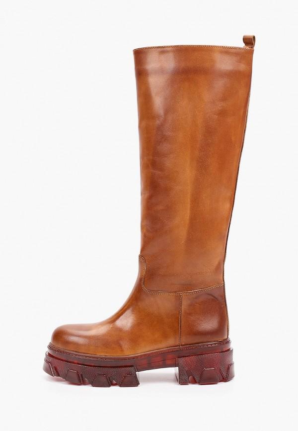 женские сапоги jonak, коричневые