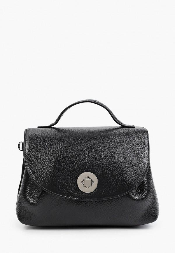 женская сумка с ручками снежная королева, черная