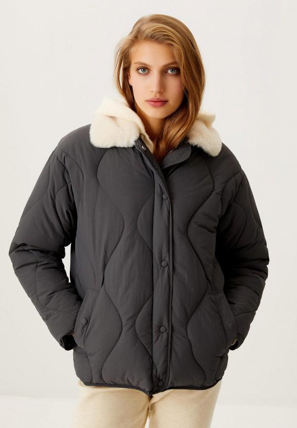 женская утепленные куртка sela, серая