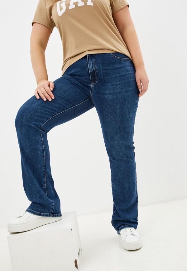 женские прямые джинсы desimall, синие
