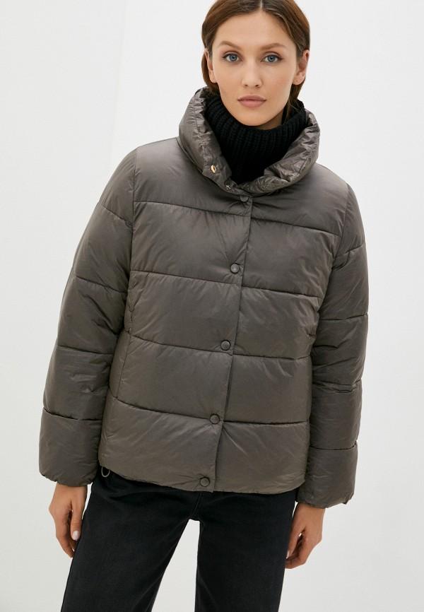 женская утепленные куртка baon, коричневая