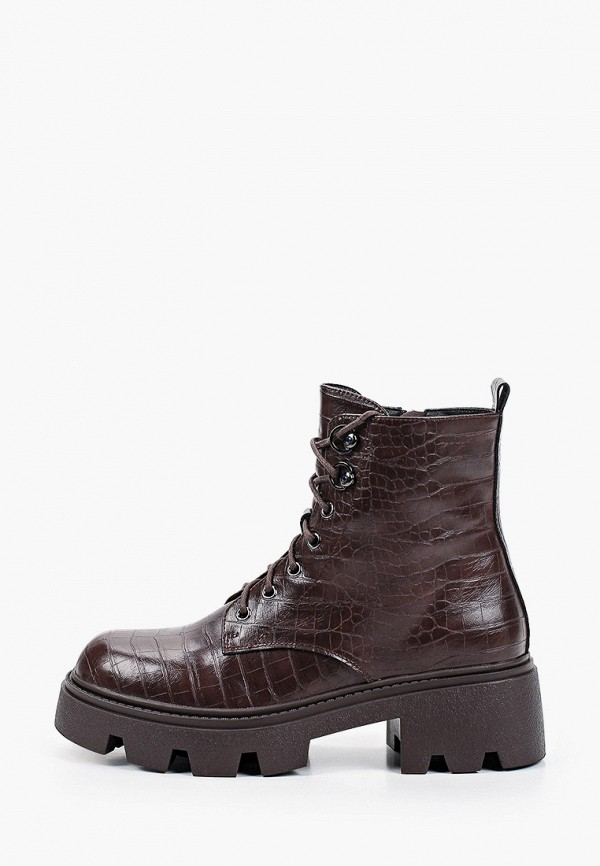 женские высокие ботинки helena berger, коричневые